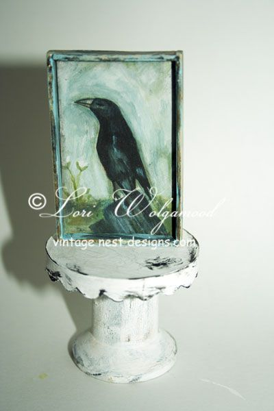 Old Crow Print - For Miniature for Doll House - Vintage Nest Designs, Creative Handmade and Hand Painted Designs
