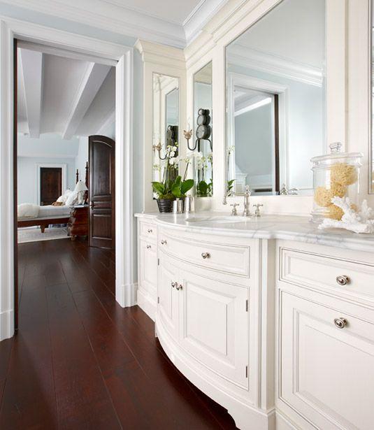 Traditional White Bathroom White Bathroom