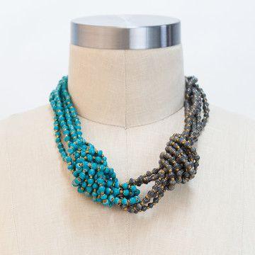 31 Bits: Horizon Necklace Blue,