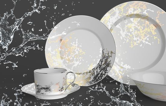 #dinnerware #dishes #home #design #gold