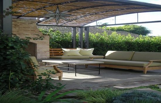 Unusually Perfect Patio Cover Designs: Mixed Natural And Metal Patio Cover Designs ~ lanewstalk.com Outdoor Furniture Inspiration