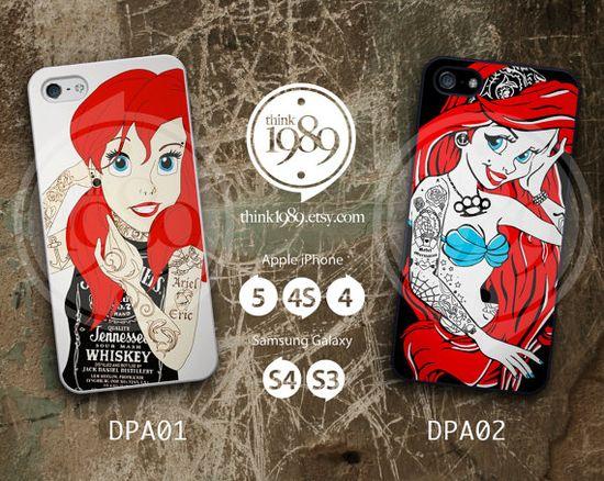 Tattooed Ariel iPhone Case - iPhone 4 Case, iPhone 4S Case, iPhone 5 Case - Disney Plastic Phone Cases - IP4DPA01