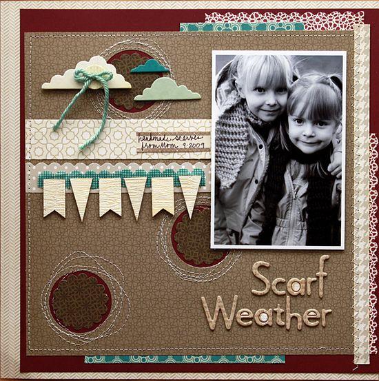 Scarf Weather **Studio Calico - Calico Collection** - Scrapbook.com - #scrapbooking #layouts #studiocalico