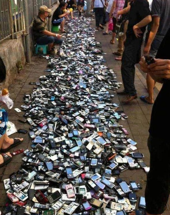 Meanwhile... in China.... is this where all your old mobile phones end up?