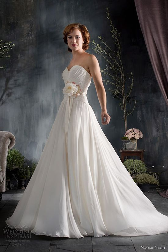 naomi neoh wedding dresses 2012 2013 chloe strapless gown