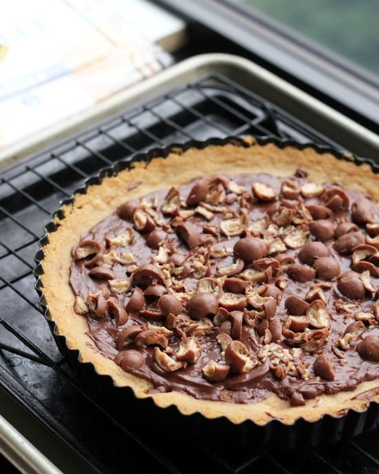 Malted milk cookie tart from  Eats Well with Others