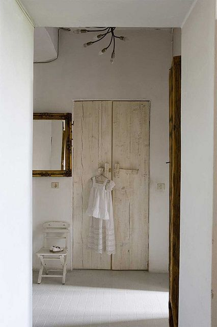 beige & white with wood