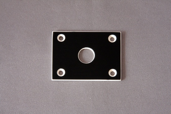 Standard Jack Plate. Fits all BC Rich guitars 74 thru 85 Standard Jack Plate. Fits all BC Rich guitars 74 thru 85 [ID #283 - 82] - $10.00 : Neal Moser Guitars , Fine Custom Handmade Guitars, Basses, electric guitar parts and BC Rich Parts