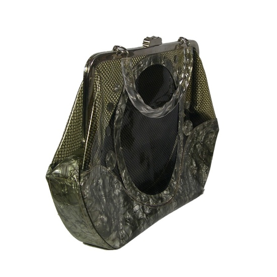 1950s - Vintage Handbag - Lucite & Netting - Unique vintage accessories