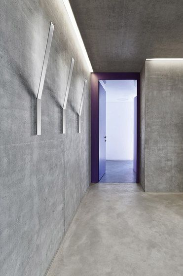 #product design #industrial design #architecture #corridors #hallways #lighting - Ypsilon wall fixture by Panzeri
