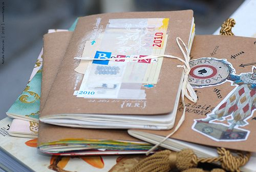 Travel diaries. #scrapbook #diy #layers #journal