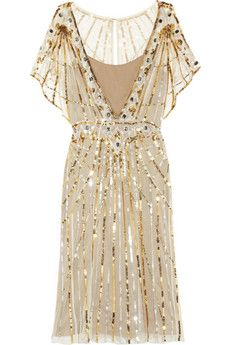 shimmery tulle. love the gold + silver sequins!