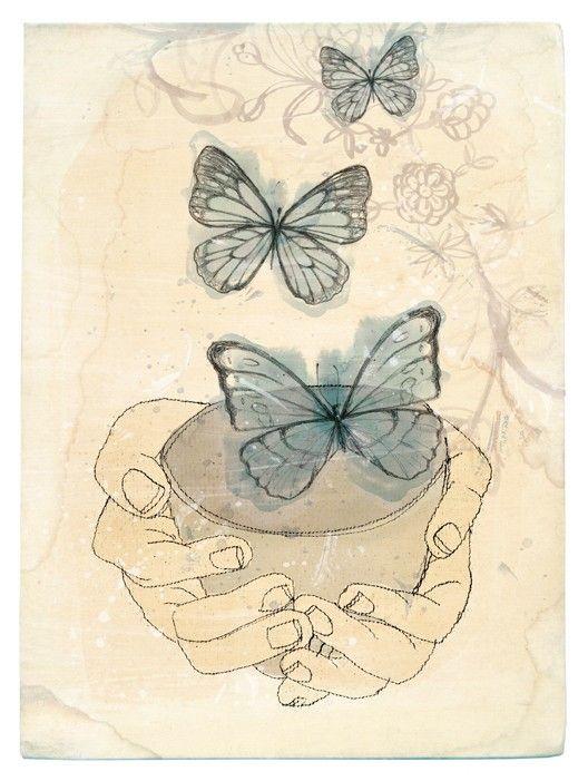 bowl of butterflies x