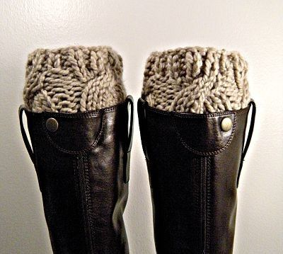 boot cuffs! chunky sock and boot look without the bulk.