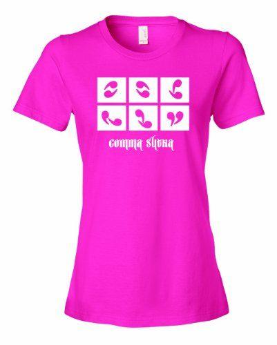 Ladies Kama Sutra Comma Suta Indian Hindu Sex Guide Book Grammar T-Shirt-Hot Pink-XL ...