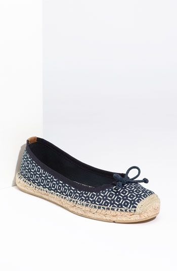 Printed Flat Espadrille by Tory Burch