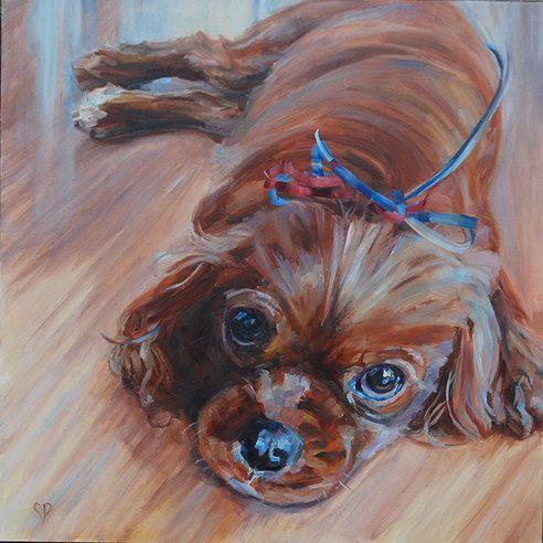 Custom Pet Portrait by Carol DeMumbrum