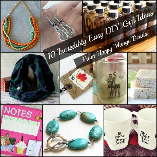 Follow the HMB BLOG: 10 Incredibly Easy DIY Handmade Gift Ideas #friday #countdowntochristmas