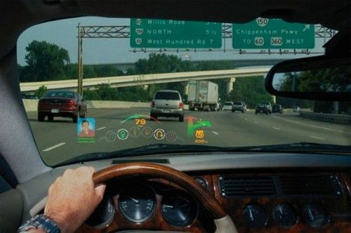 Laser: Driving Info On Your Windshield, Microvision, head-up display, HUD, future, car, vehicle, futuristic, transportation, automobile, concept, futuristic interior, digital