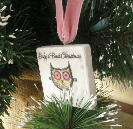 I need to make this for Annistyn's first Christmas ornament.