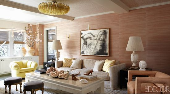 cameron diazo's living room, designed by kelly wearstler