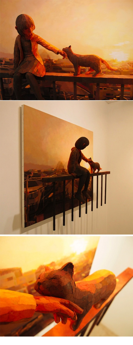 Shintaro Ohata - Blending Sculpture and Canvas to Create 3D Paintings
