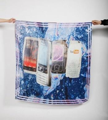 mobile phone silk scarf....love
