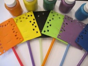 Making your own paint swatters for preschool