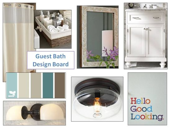 Guest bathroom design board I An Uncommon Fraase