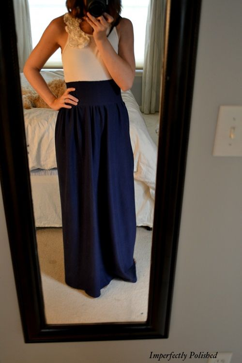 DIY maxi dress. So cute! This tutorial is great for just a maxi skirt too. I can't wait to make this one!