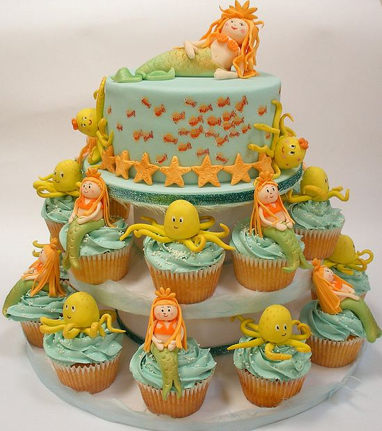 Mermaid Cupcake Tower