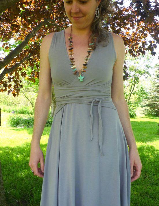 Organic Clothing Summer Wrap Dress