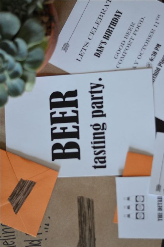 Free Beer Tasting Invites & Printables for an at home beer tasting party!