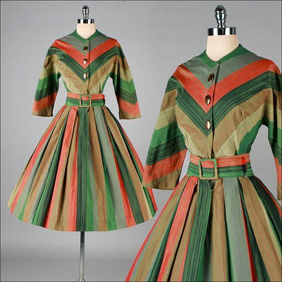 #fashion #plaid #1950s #partydress #vintage #frock #retro #sundress #tartan #checkered #feminine