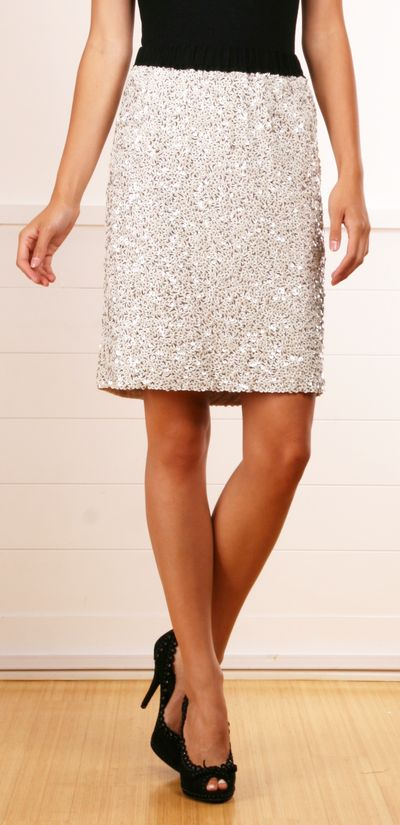 Lanvin sequined skirt