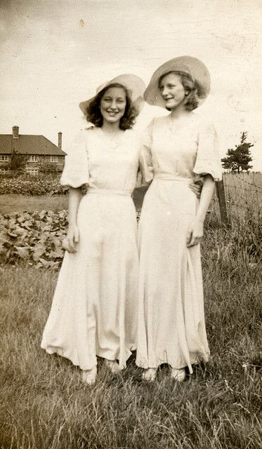 Two bridesmaids in the 1930s