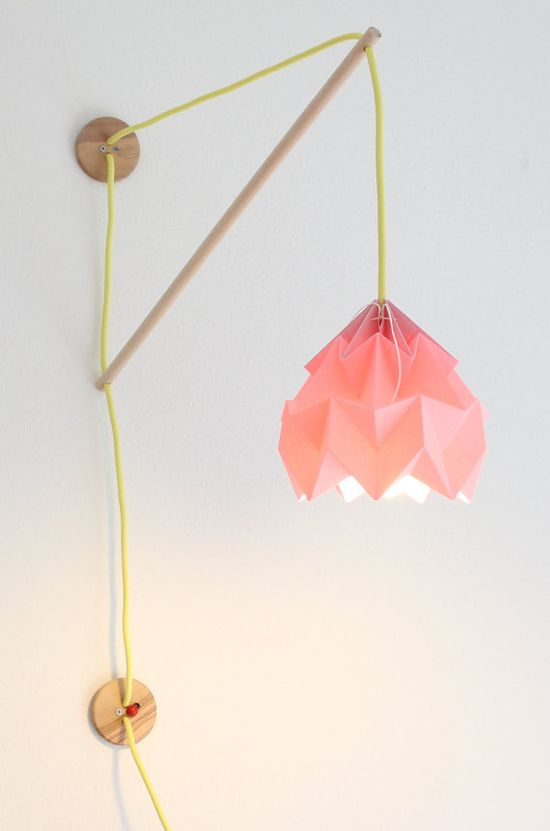 Wall fixture Klimoppe with paper lamp Moth by nellianna