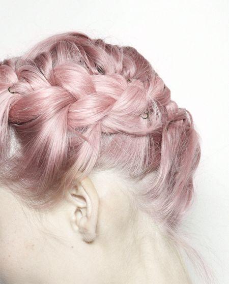#pastelhair #hair #hairstyle #fashion #style #trend #cute #model #girl #girly #cool #grunge #glamour #mermaid #swag #pinkhair #braid #pastelpink
