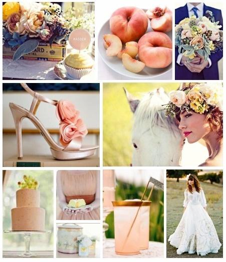 peach wedding!
