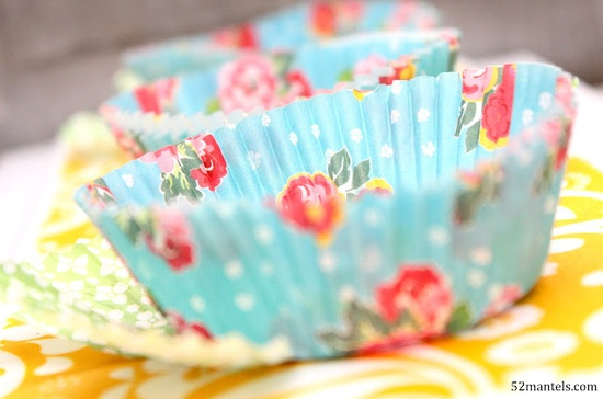 Sweet Spring Flower Art… with Cupcake Holders!  {turn cupcake holders into pretty spring flowers with this fun craft!}