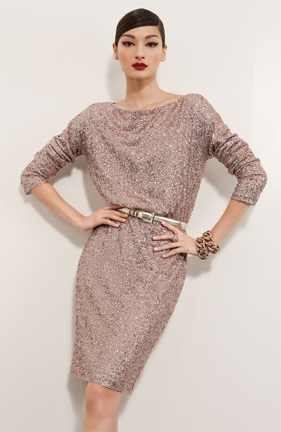 Dinner Party: St. John Collection Dress & Jewelry #Nordstrom #Designer #Holiday