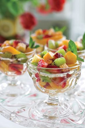 Fresh Fruit Salad with Lime-Ginger Honey Dressing