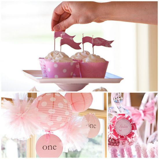 lanterns and tulle pompoms