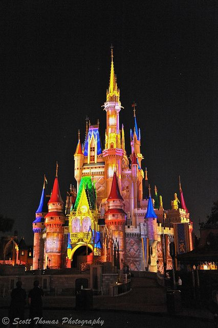 Disney colorfull cinderellas castle