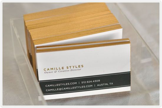 how to make your own gilded business cards! amazing!