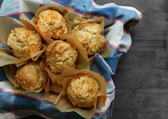 Savory Cheese Muffins with Caramelized Onion