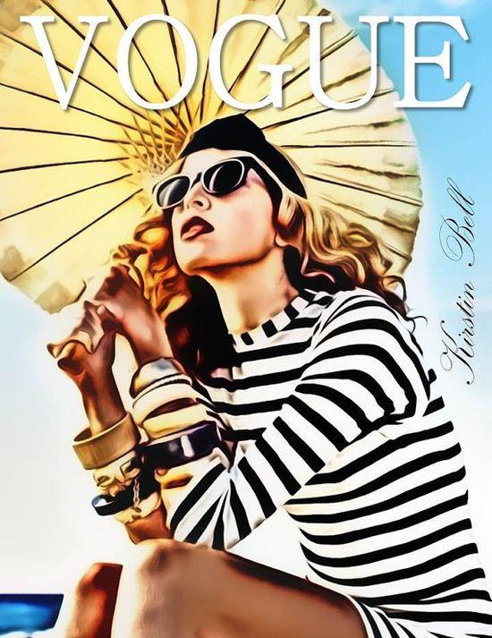 Glamorous Vogue Fashion Illustration by KirstinBellCreations, $20.00