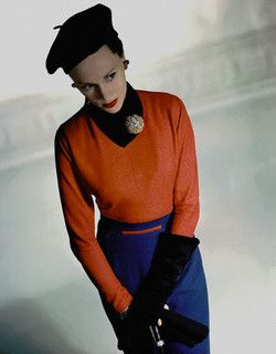 A bold colour palette from 1950 that would inject such a great hit of vibrancy into even the bleakest of winter months. #vintage #fashion #1950s