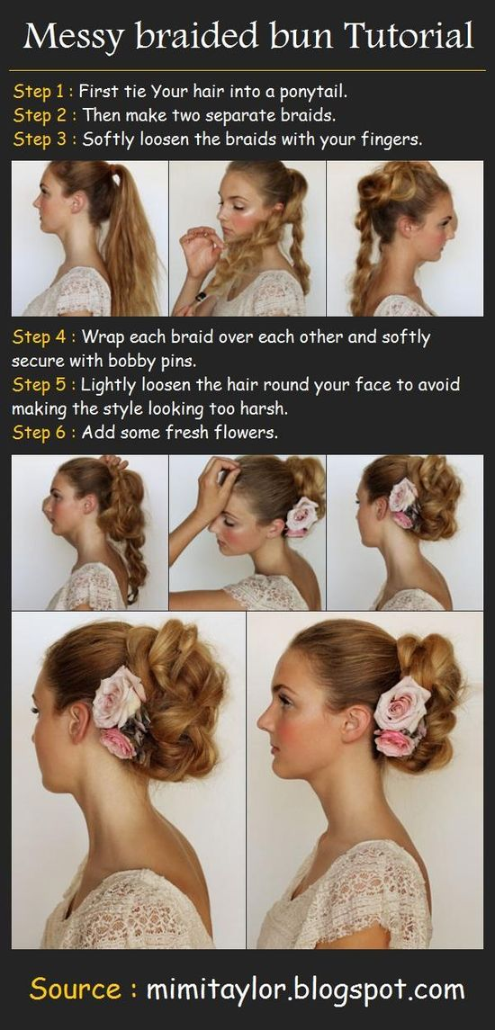 A Messy braided bun Tutorial