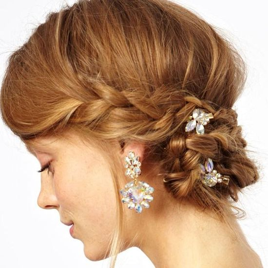 Asos hair accessories add some sparkle to holiday hair.